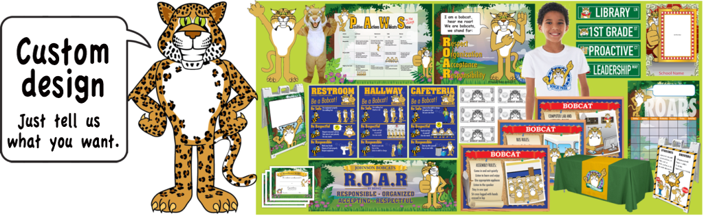Mascot junction pbis posters. Fast clipart leopard