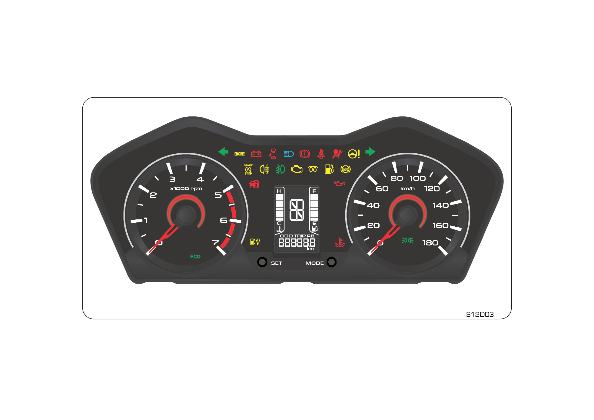 Mahindra owners manual warning. Fast clipart odometer