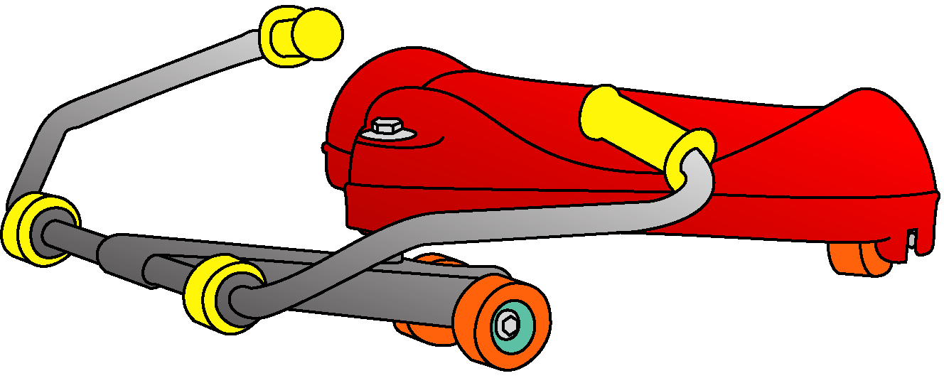 Roller flying turtle product. Fast clipart racer