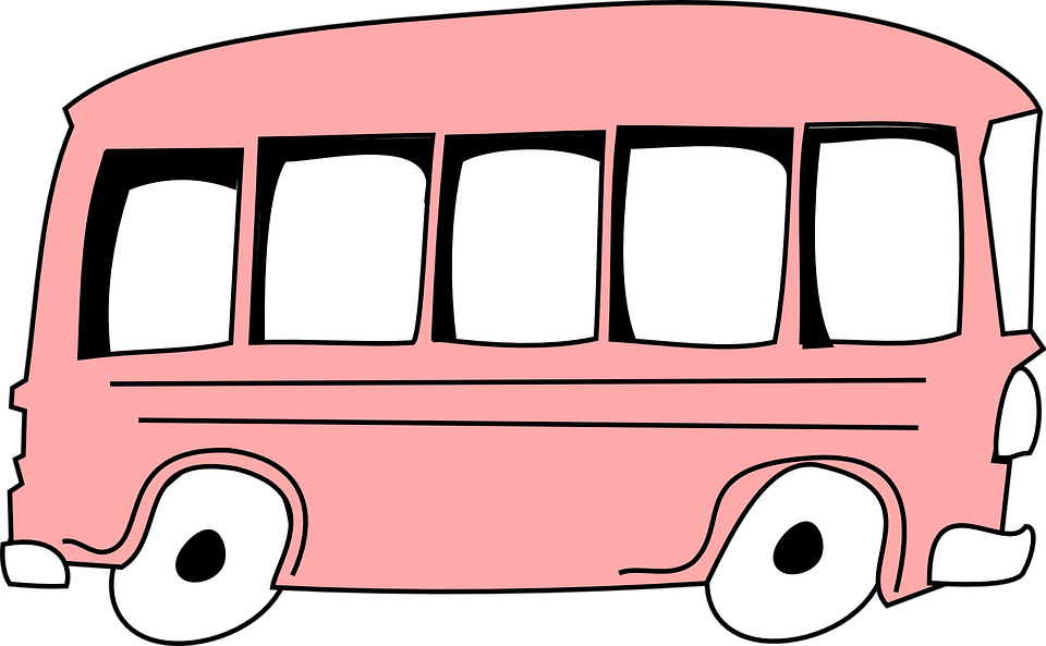 Pink cartoon car group. Fast clipart rapidly