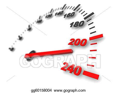 Drawing gg gograph . Fast clipart speed meter