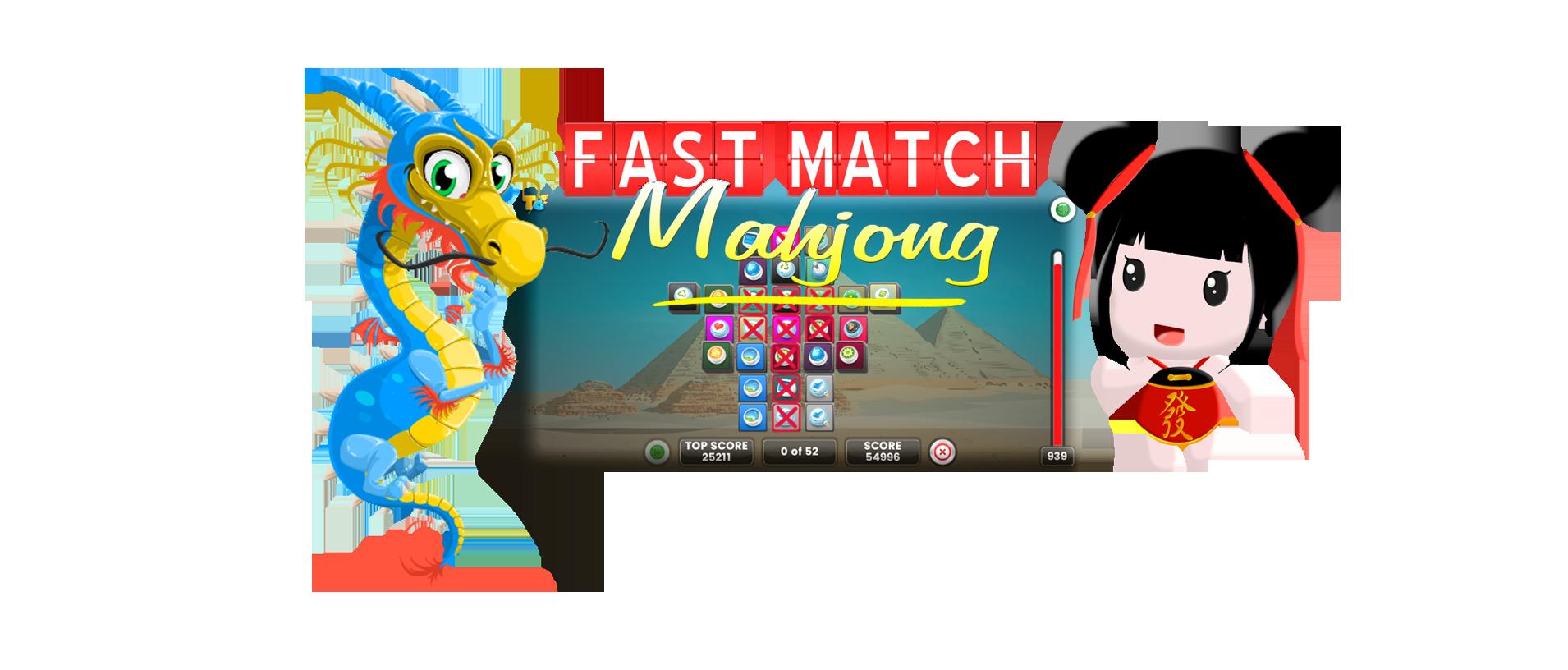 Match mahjong online game. Fast clipart sport winner