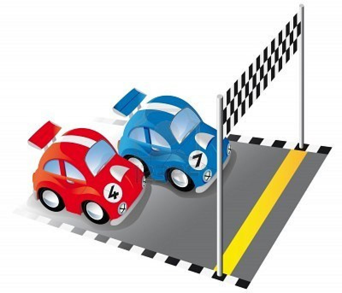 Fast clipart to finish. Race car clip art