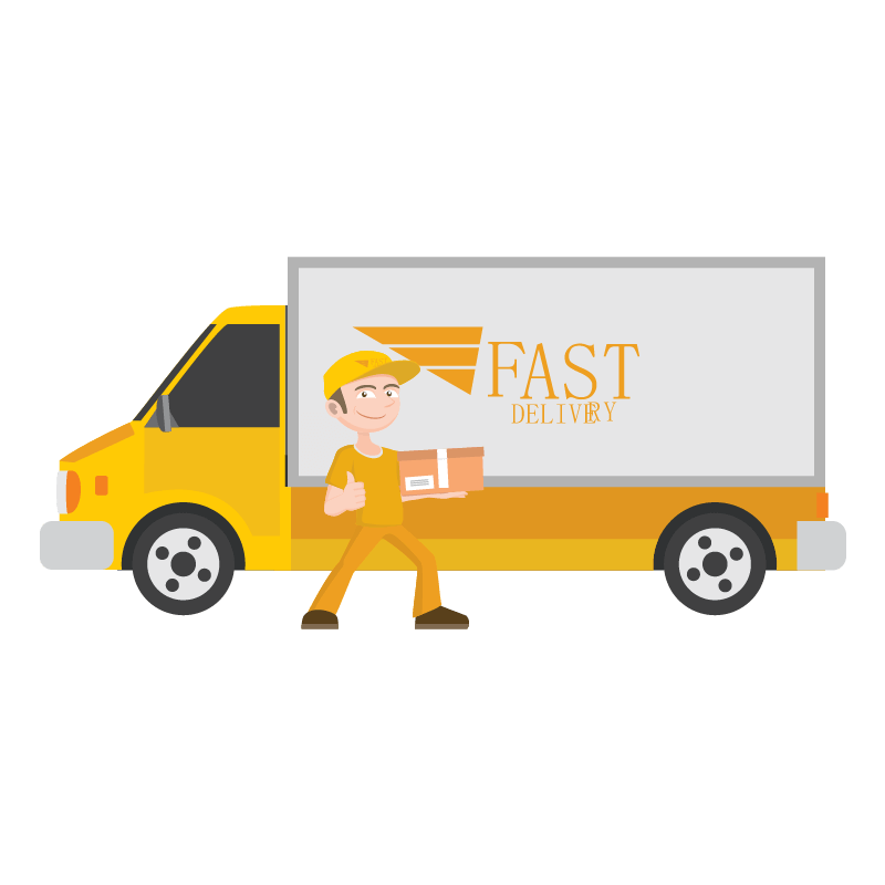 Fast clipart van transport. Daily parcel service from