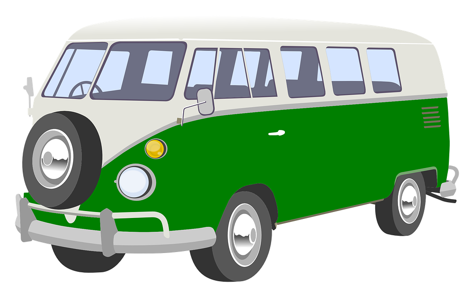 Minivan clipart mini bus. Van png vw pinterest