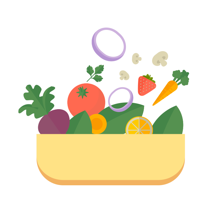 My healthy components. Grains clipart plate