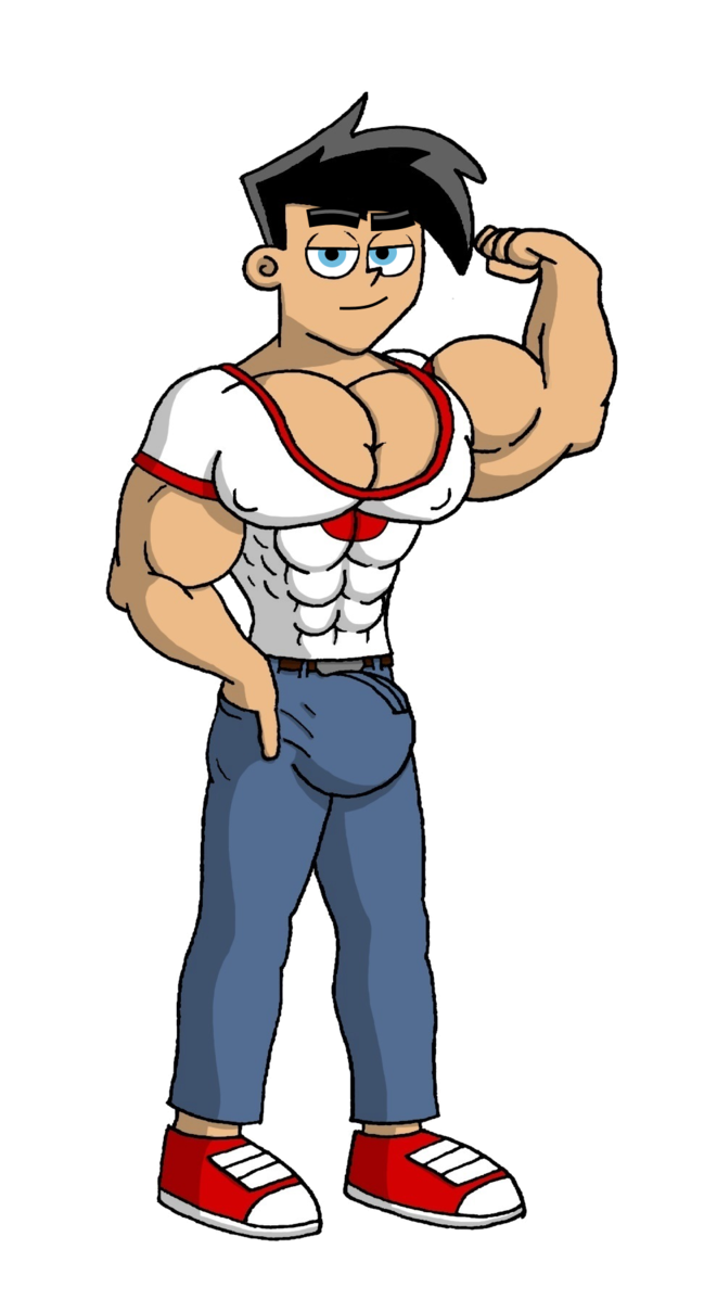 Danny fenton by paradogta. Weight clipart muscle