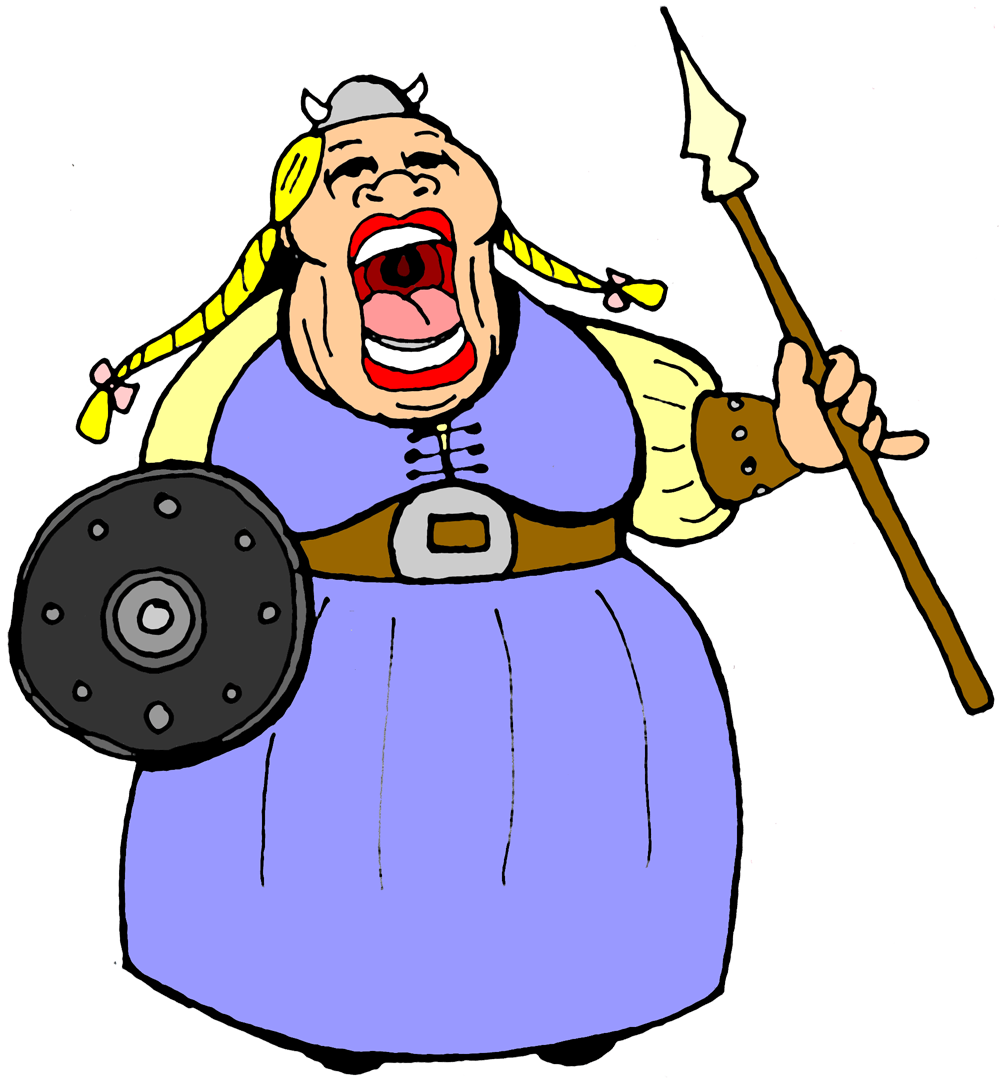 Tall clipart fat. Cartoon lady group free