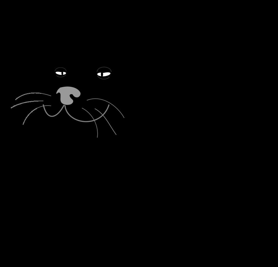 Cat gato negro medium. Fat clipart black and white