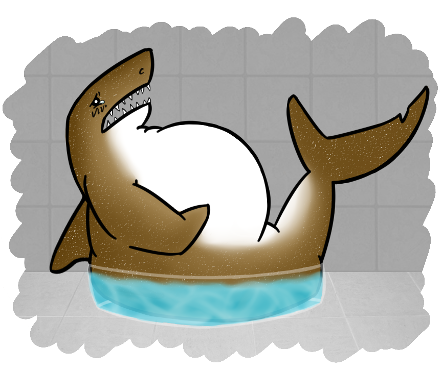 collection of shark. Fat clipart bloat