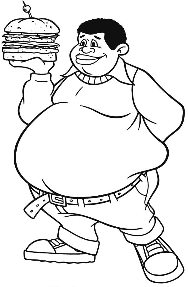 Albert boy bring big. Fat clipart coloring