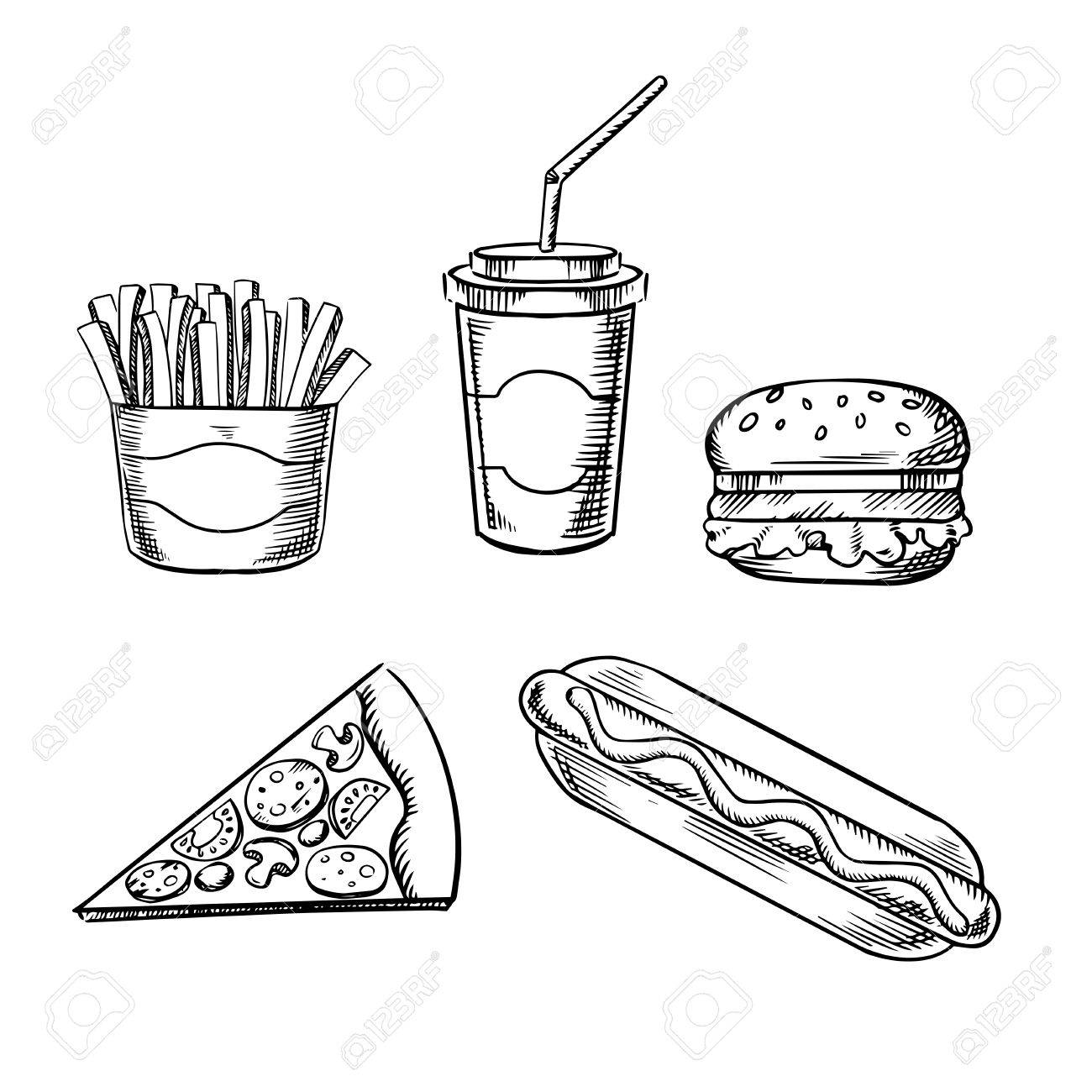 Fat clipart easy food.  snack drawing for