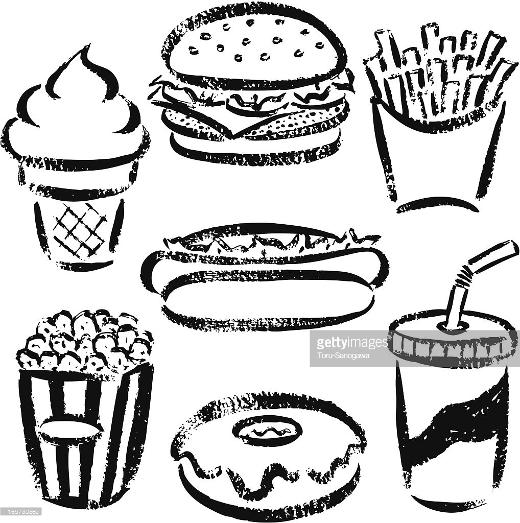 snack drawing for. Fat clipart easy food