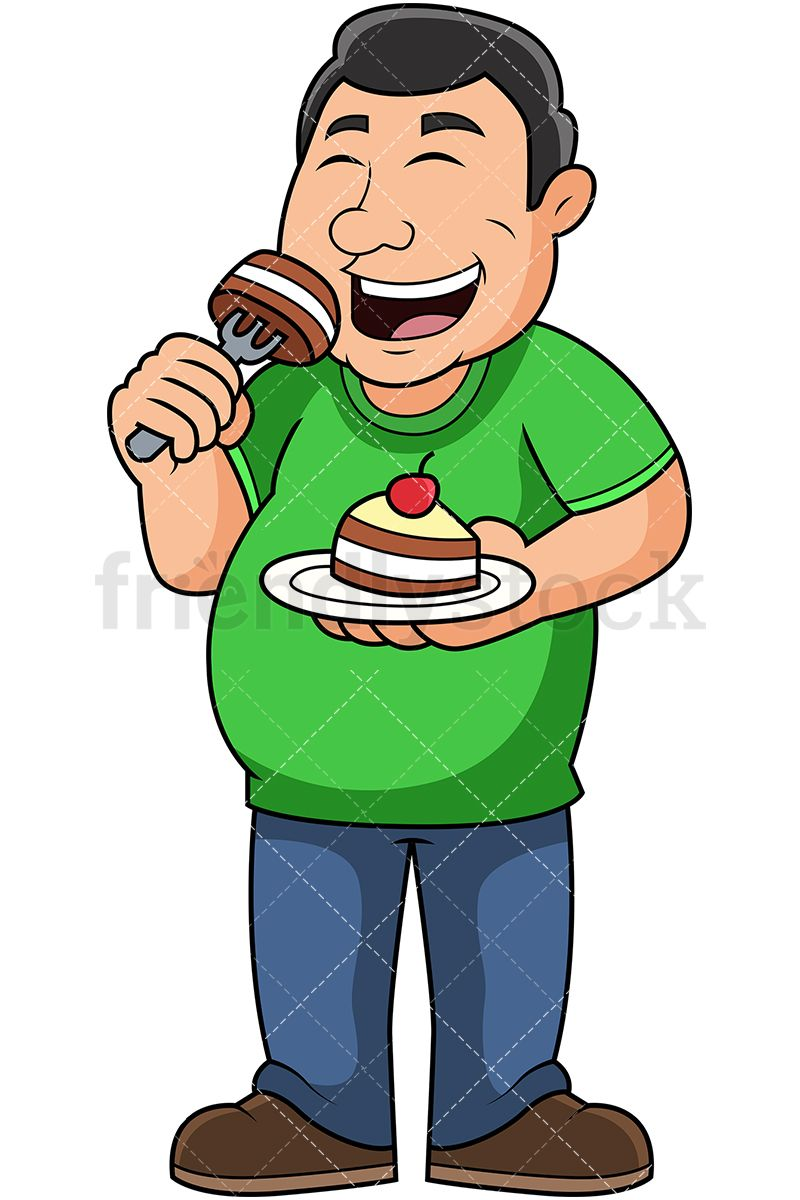 Fat clipart fat eating. Pin on free vector