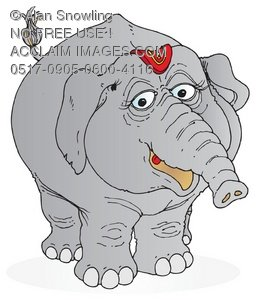 Fat clipart fat elephant. Illustration of grey