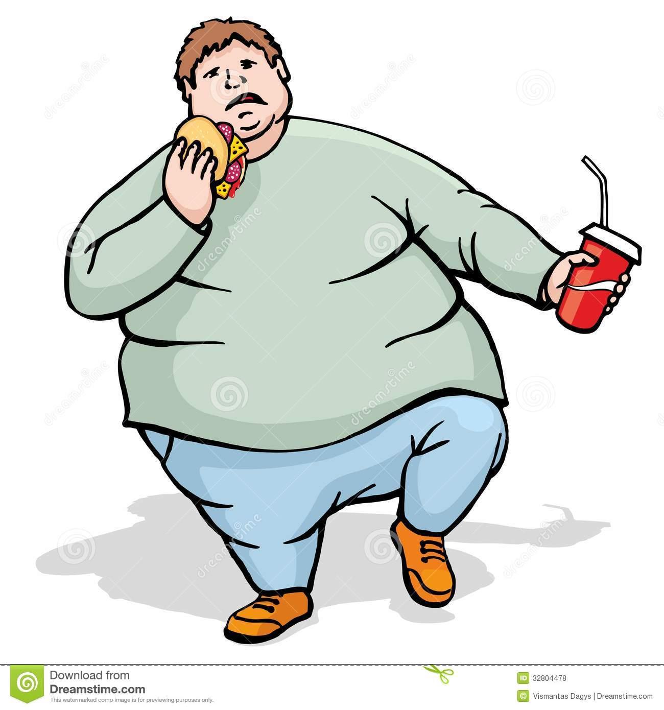man clipartlook. Fat clipart fat person