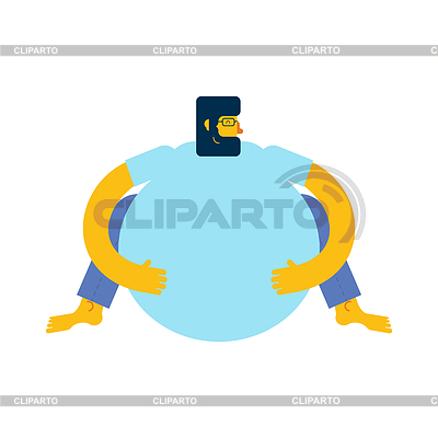Stock photos and vektor. Fat clipart fatso