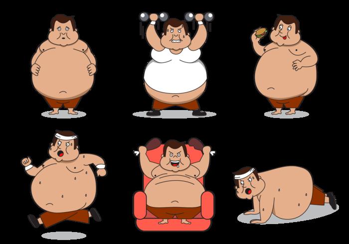 Cartoon group free guy. Fat clipart gordo