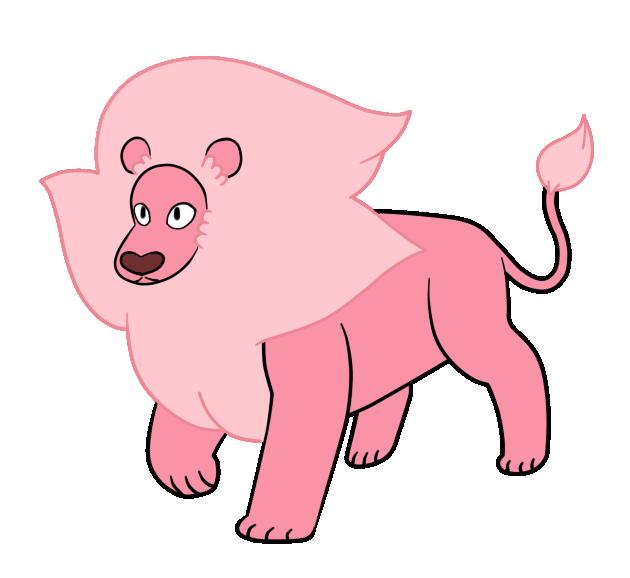 Pink lion mascot. Magic clipart wind