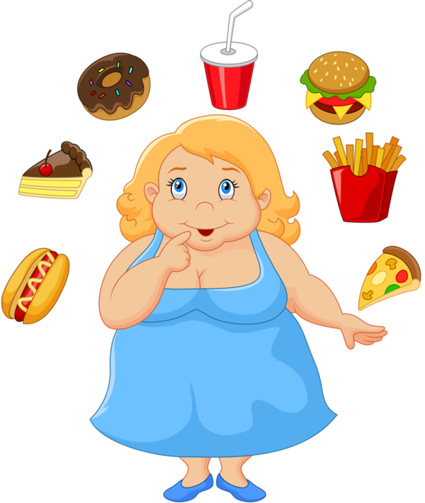 Personnages illustration individu personne. Fat clipart overweight
