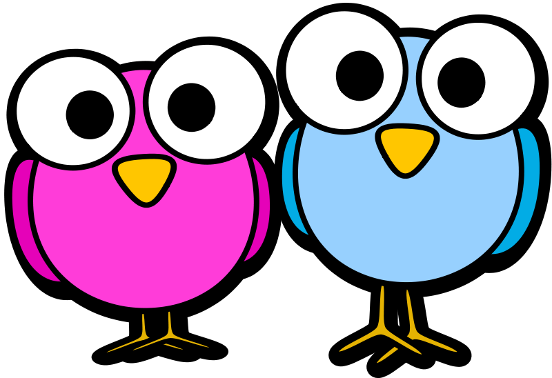 Googley eye birdies by. Fat clipart owl