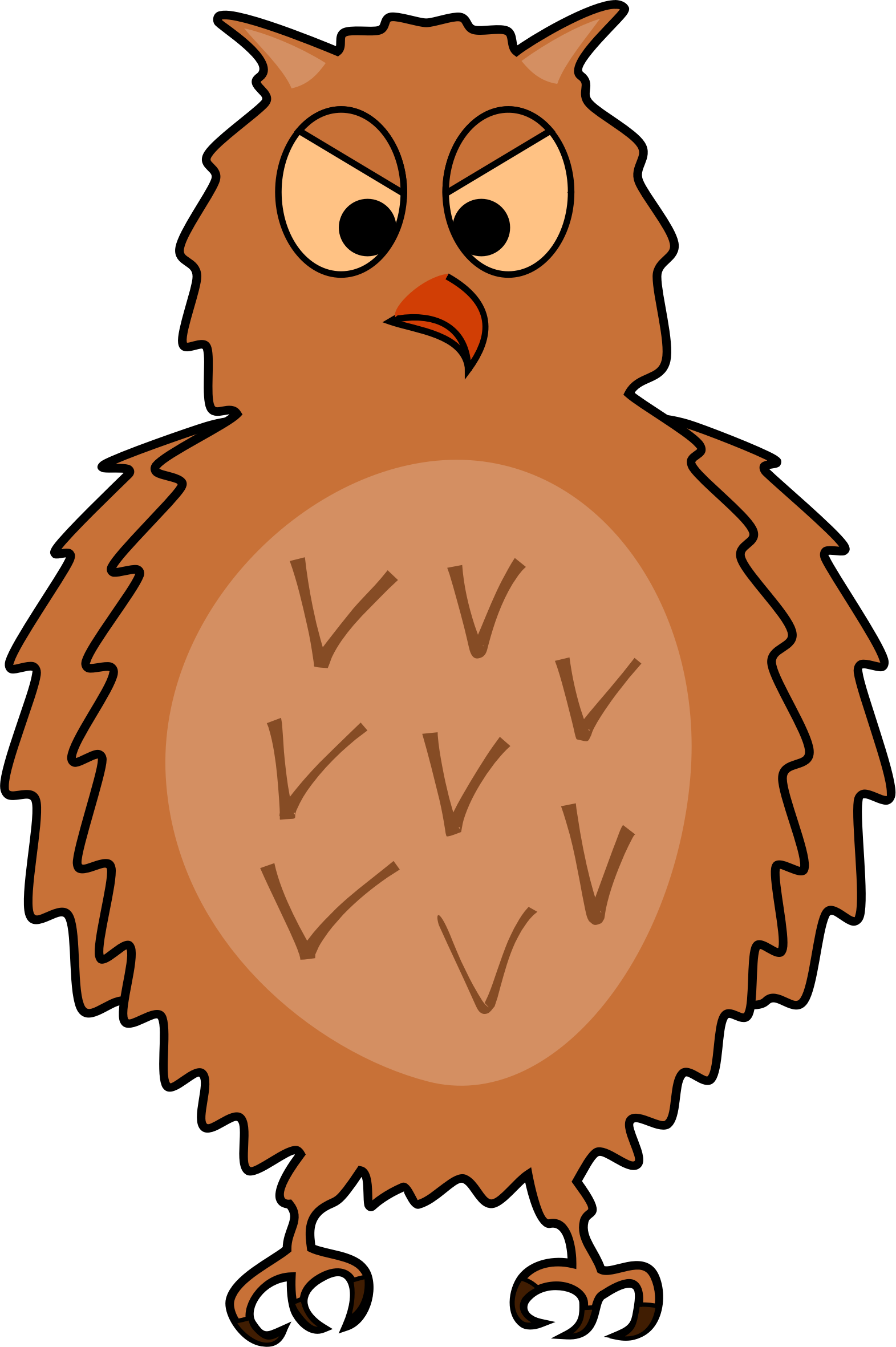 Enraged front view by. Fat clipart owl
