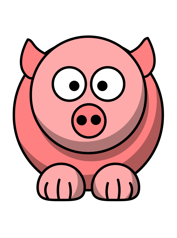 Fat clipart pig. Letter formation where do
