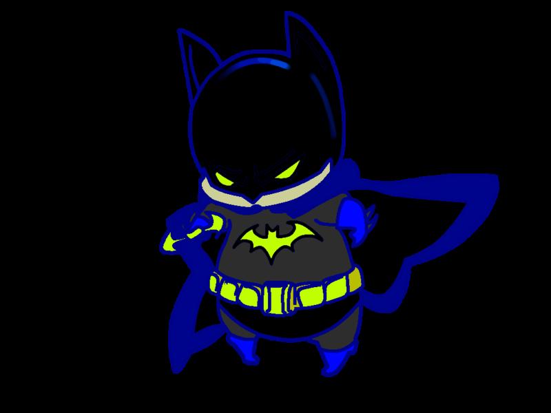 Fat clipart sad. Cute chibi batman by