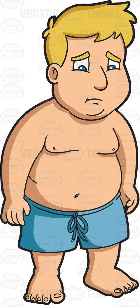 Fat clipart sad. Collection of overweight free