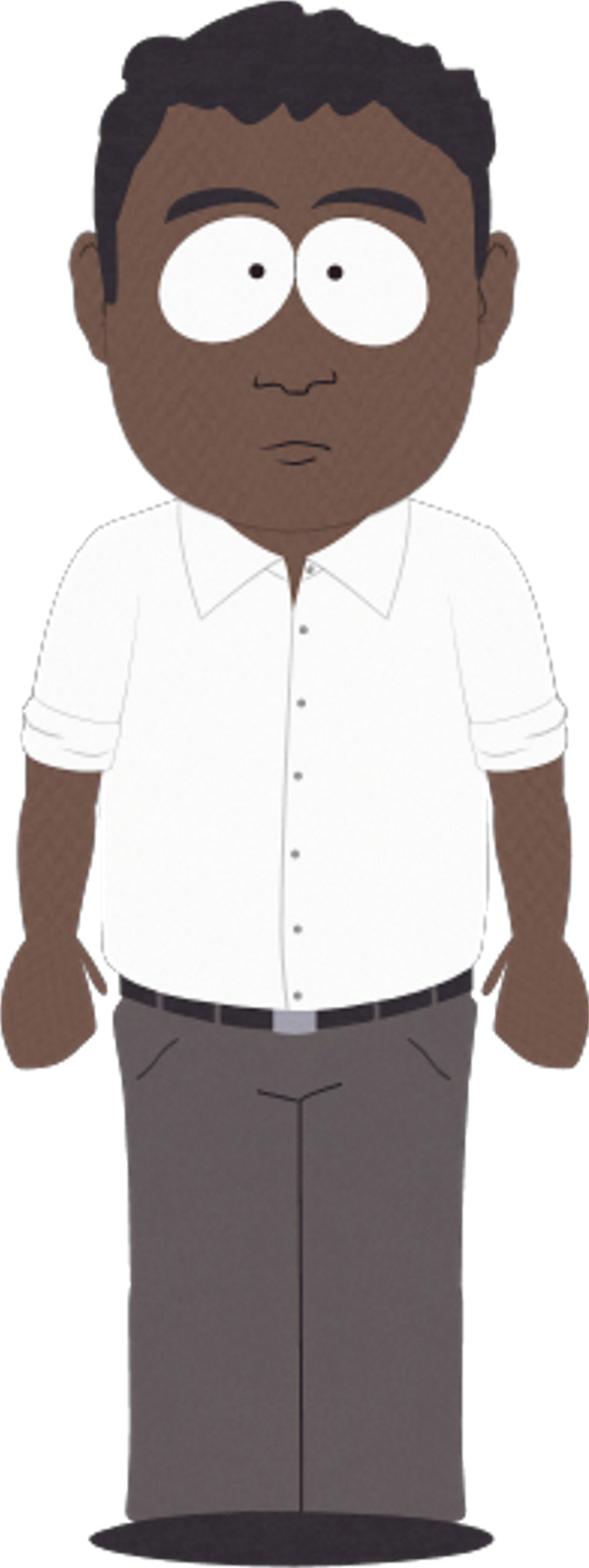 Chris dad south park. Father clipart brown hair