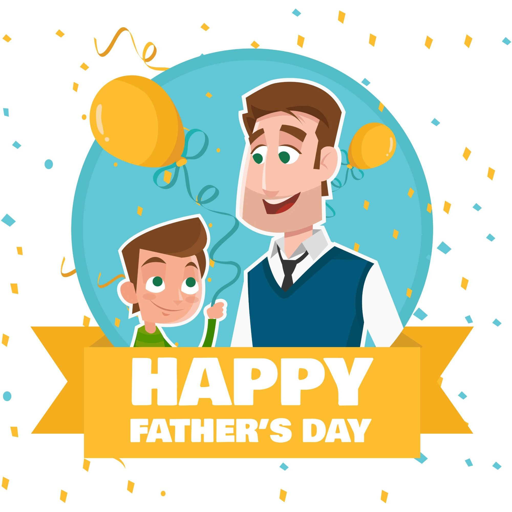 Father clipart celebration. Happy s day vector
