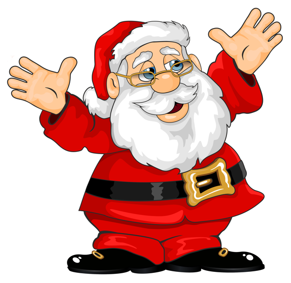 Png pekn obr zky. Father clipart christmas santa claus