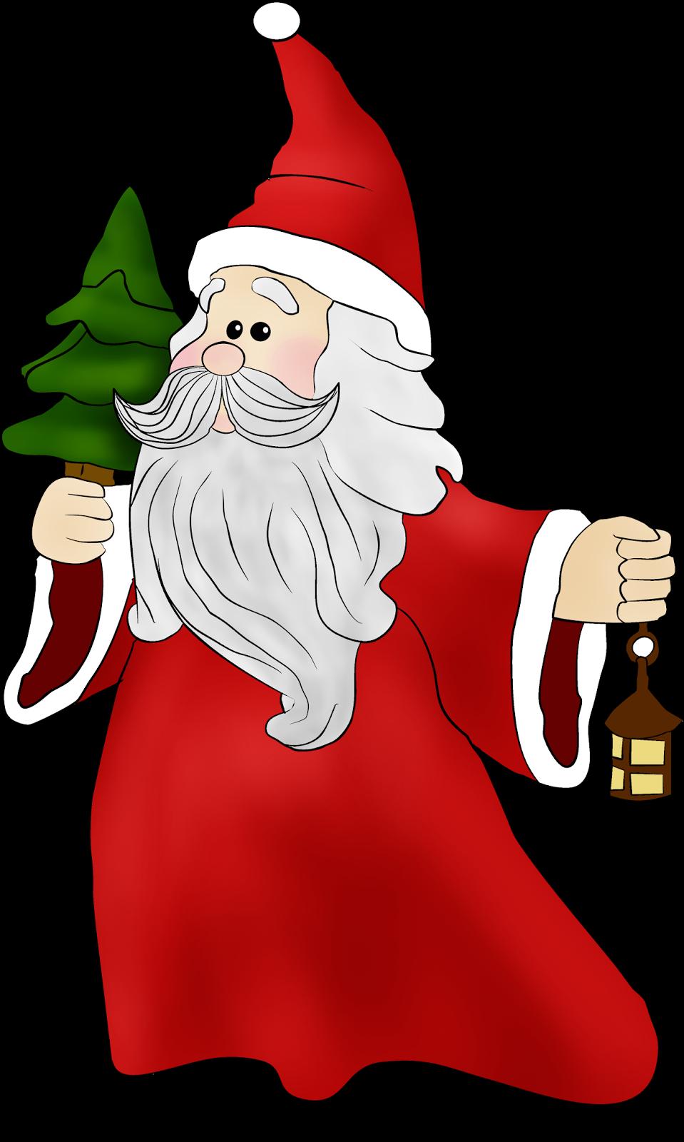 Santa clip art velas. Gnome clipart christmas