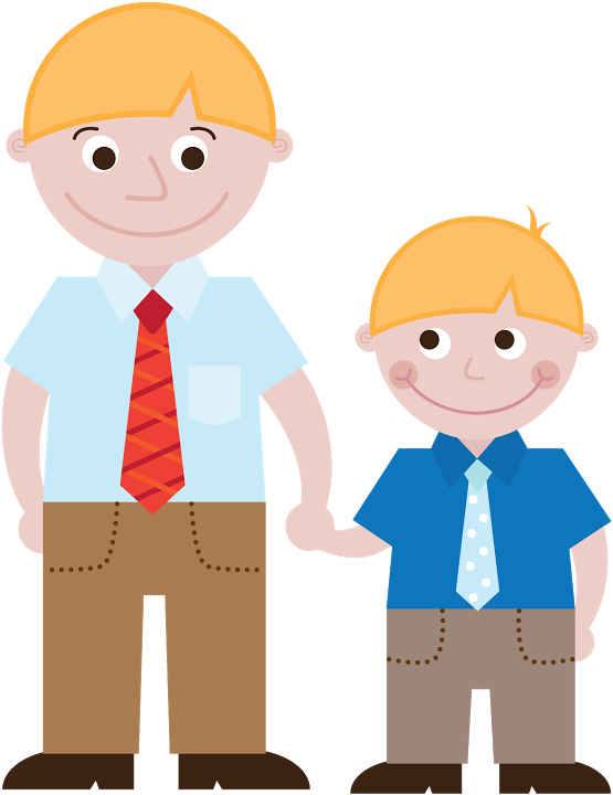 Father clipart father and son. S day by leila