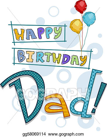 Drawings dad stock illustration. Father clipart father birthday