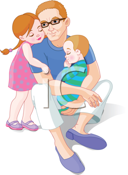 Royalty free image of. Father clipart father child