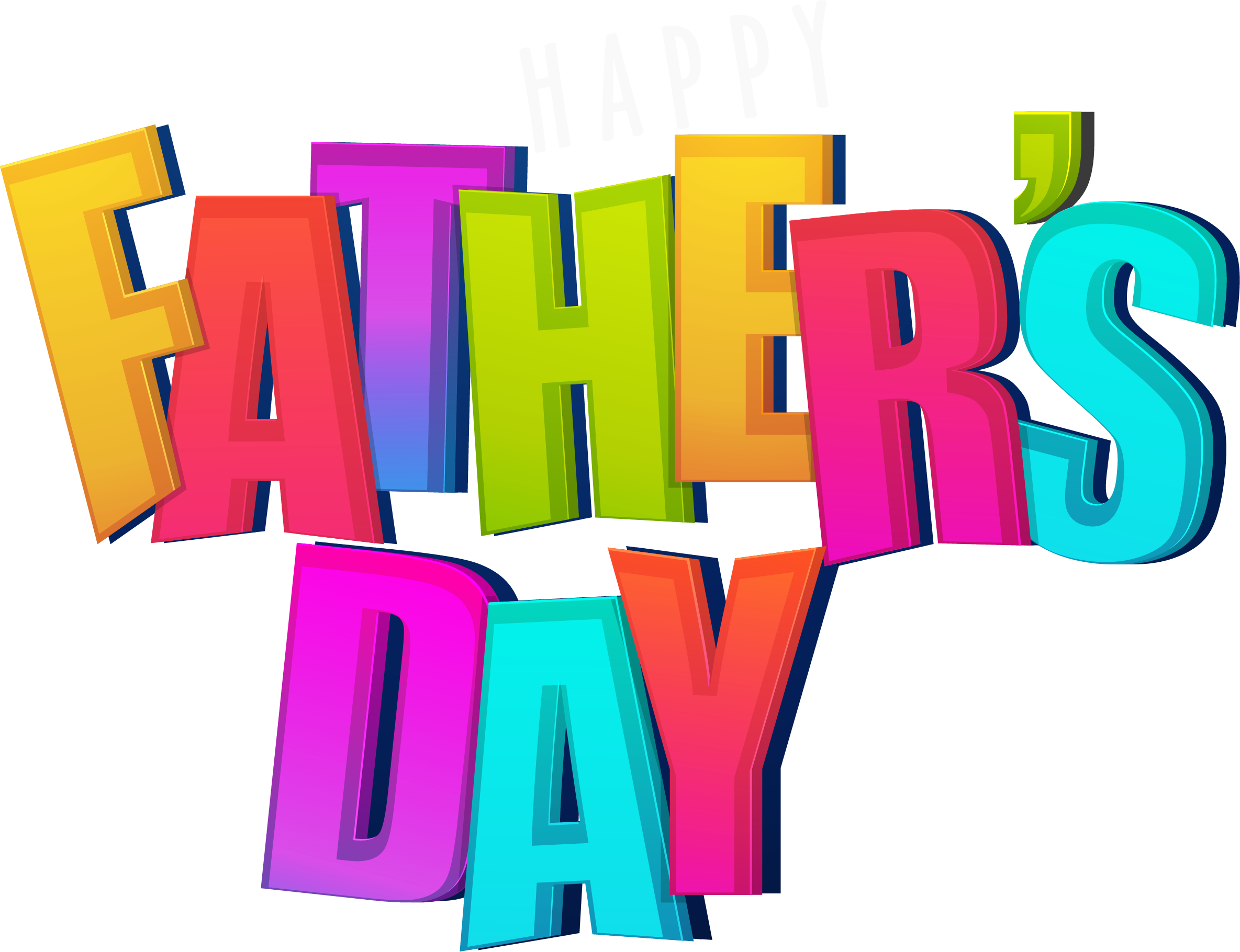 Poster fathers day gradient. Father clipart father word