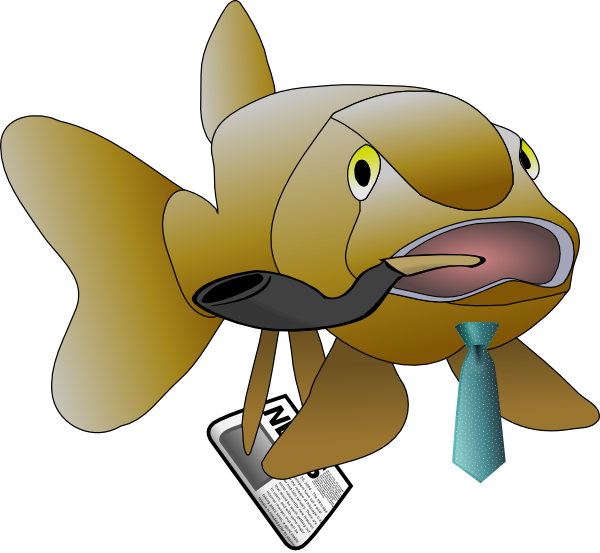 Fish clip art at. Father clipart gardening