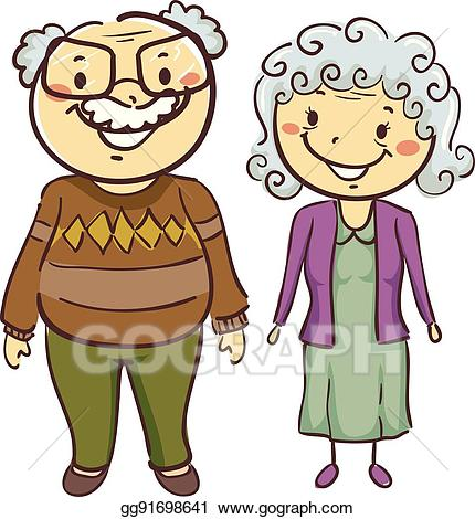 Eps illustration and grandfather. Grandmother clipart father