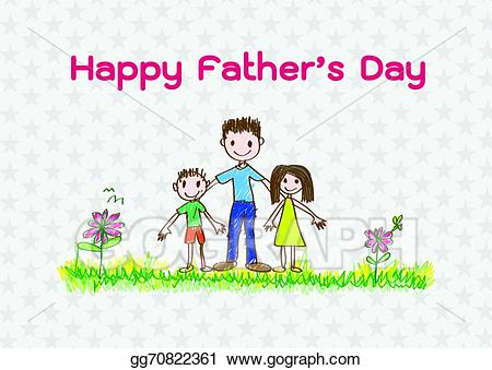 Father clipart happy dad. Vector stock s day