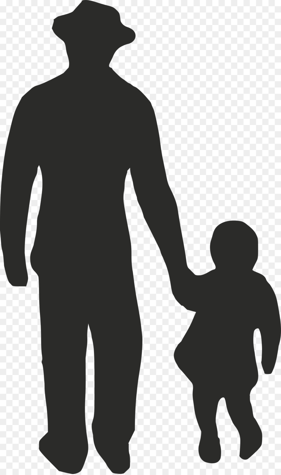 Man cartoon silhouette drawing. Father clipart human standing