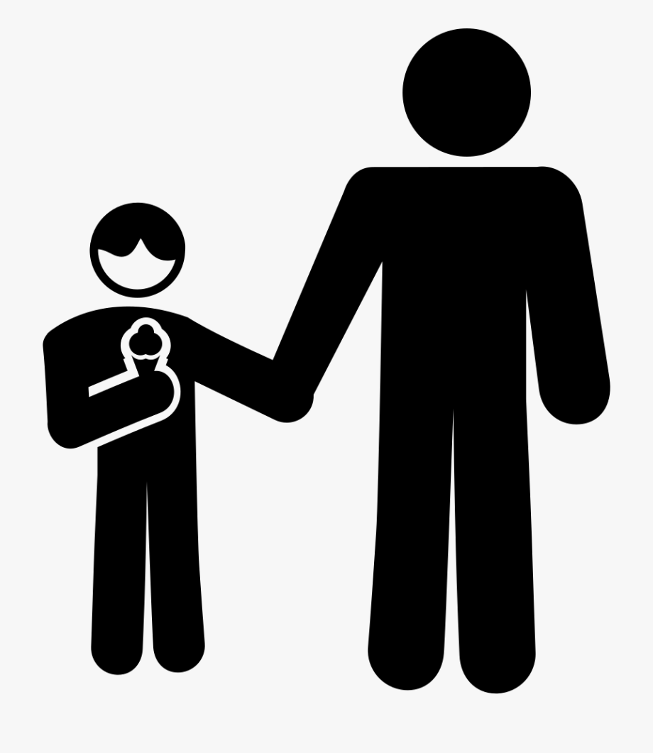 Father clipart human standing. Conversation and son people
