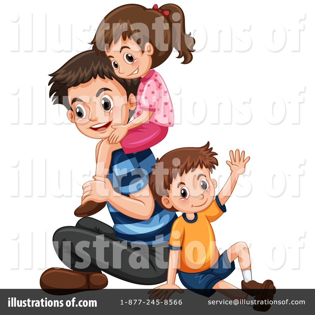 Father clipart illustration. By graphics rf