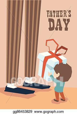 Father clipart long leg. Eps illustration small boy