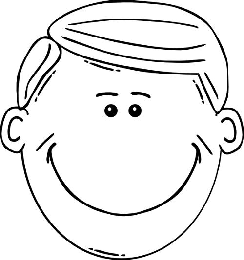 Smiley child clip art. Father clipart male face