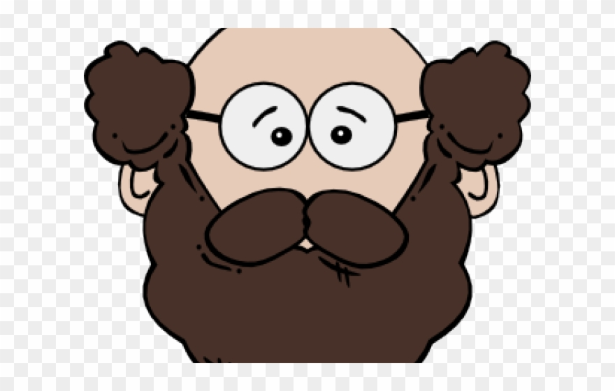 Old man cartoon png. Father clipart male face