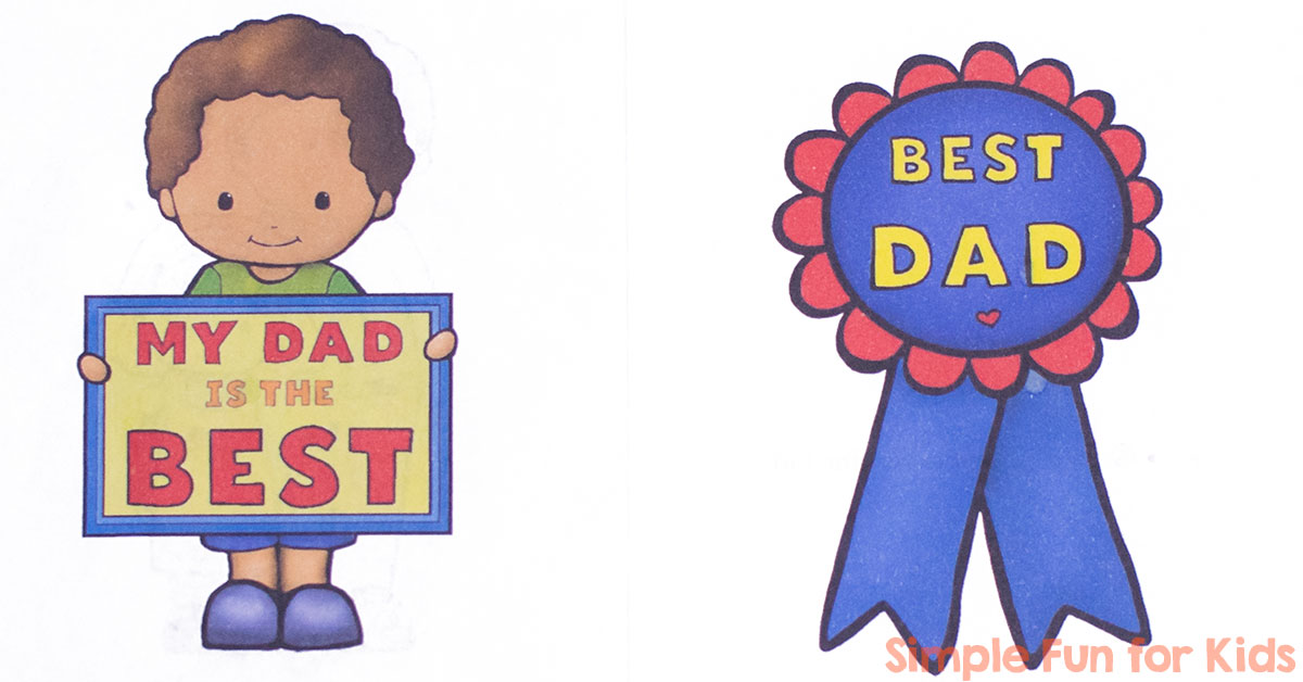 I love emergent reader. Father clipart me and my dad