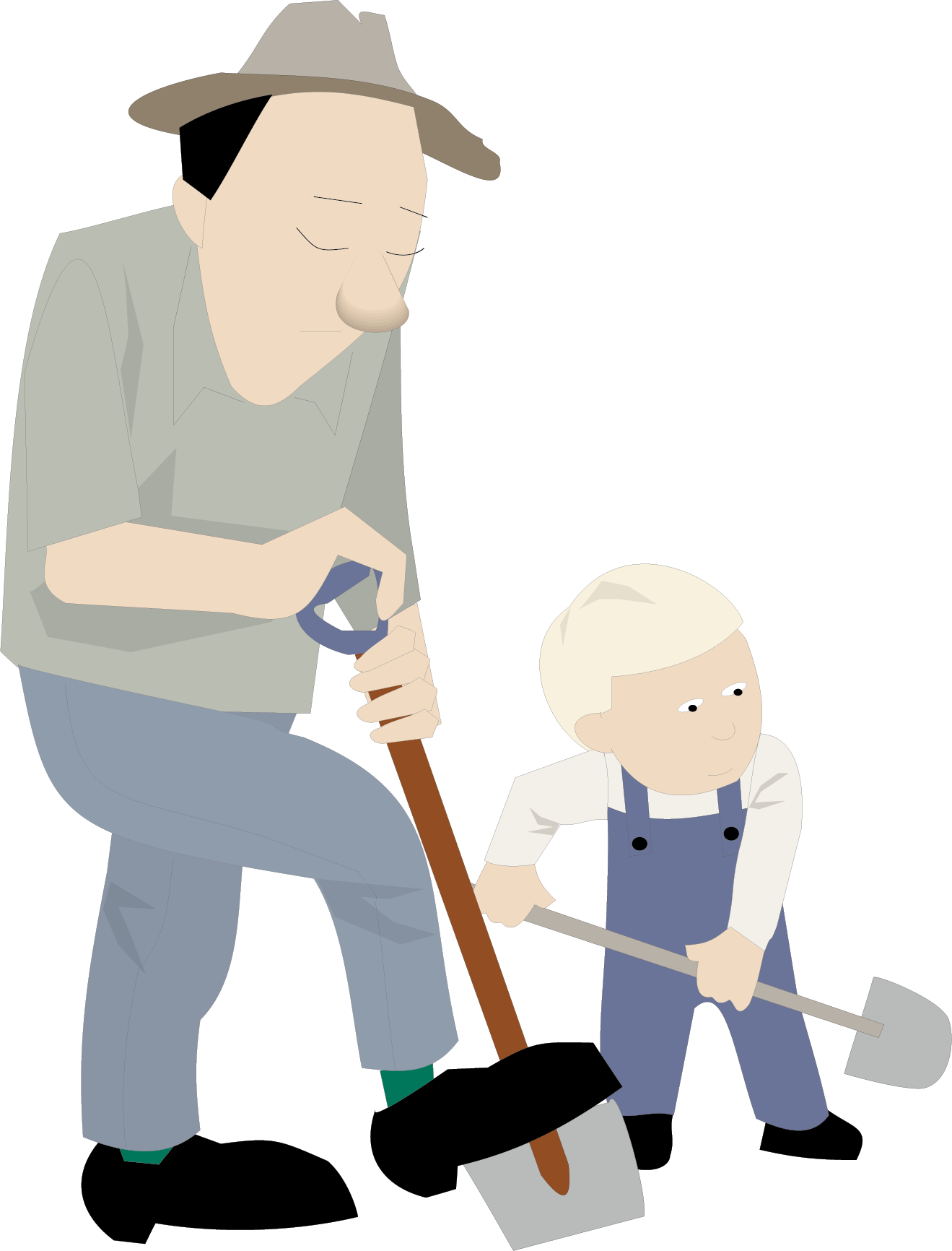 Clip art the old. Father clipart middle aged man