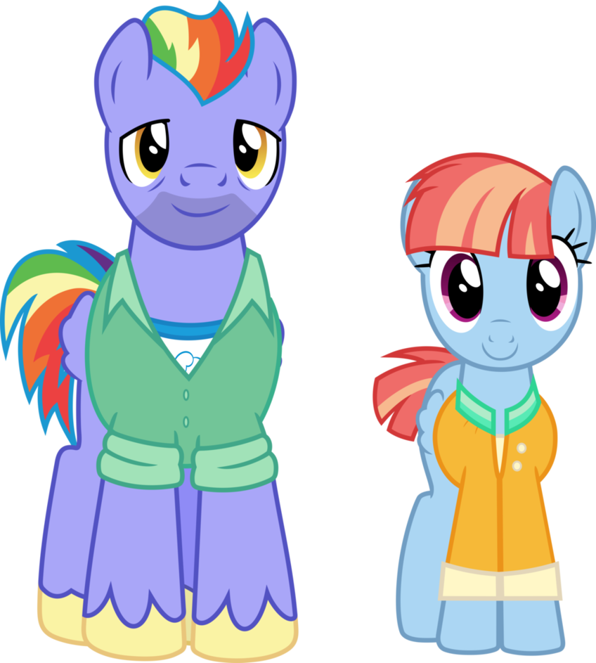 Father clipart mom dad. Rainbow dash s parents