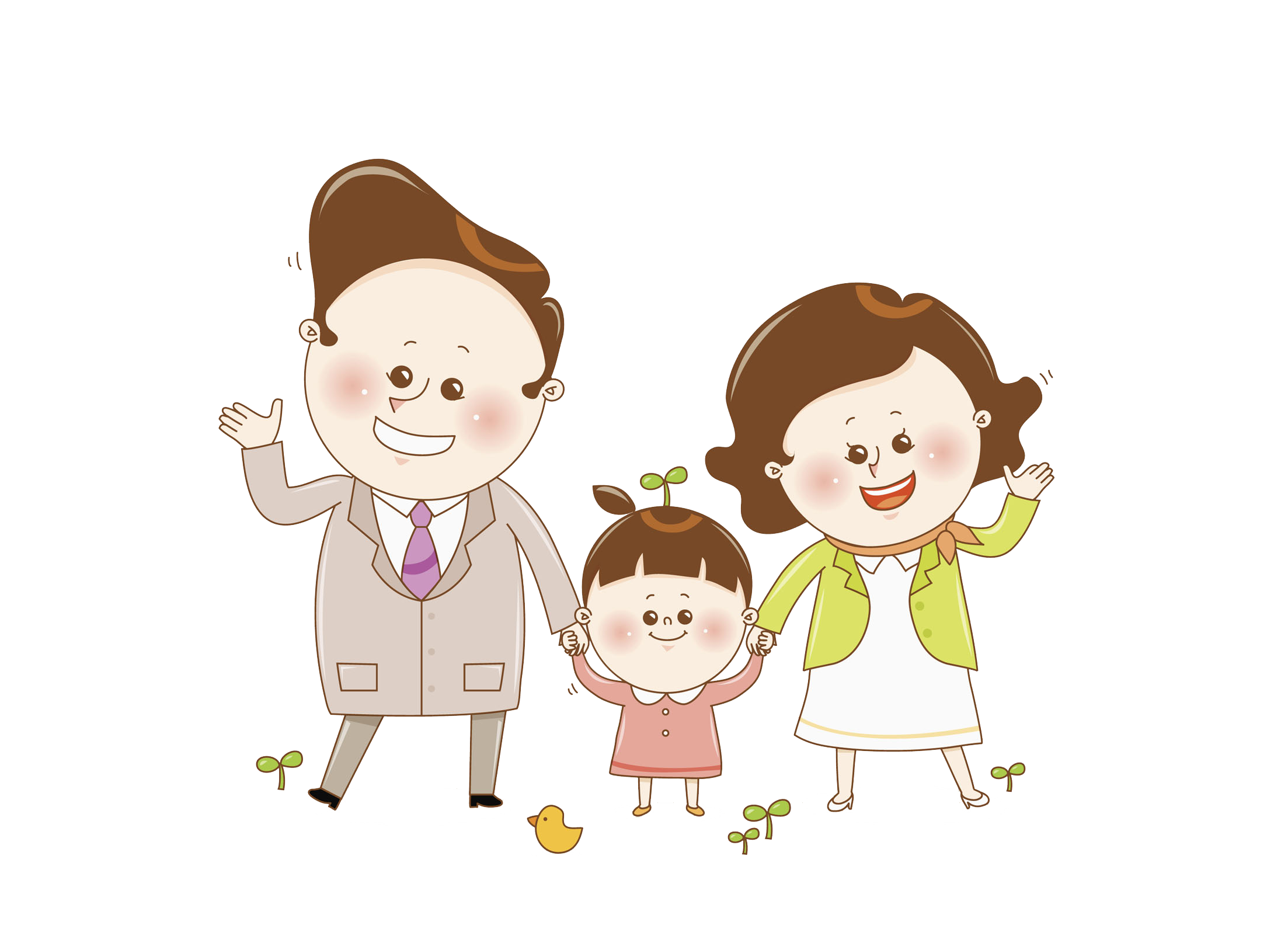 Father clipart mother child. Parent happy family transprent